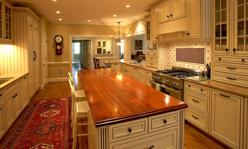 Brazilian Cherry Wood Countertops For A Kitchen Island In Richmond Virginia