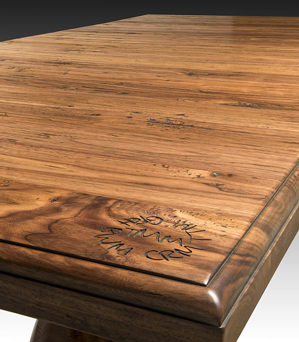 Hand Planed Distressed Wood Countertops by Grothouse