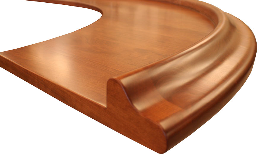 Synthesis Bar Rail for Wood Bar Top Exclusively at Grothouse
