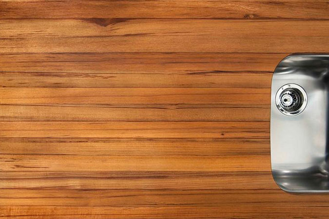 Authentic Teak countertop protected with Original Oil™