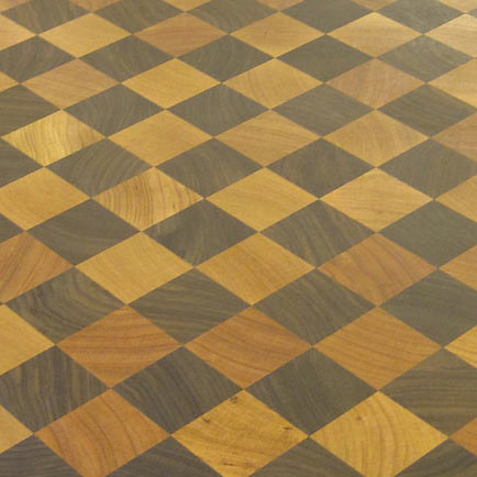 Grothouse End Grain Countertops with Checkerboard Pattern