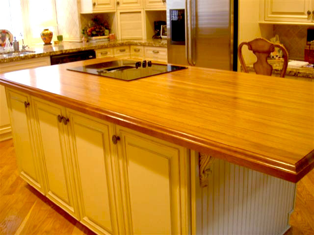 Iroko Wood Countertop in Florida