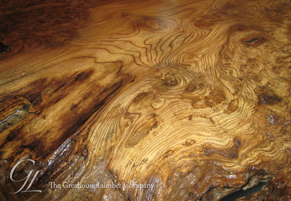 English Wych Elm Live Edge Wood Countertop In Wisconsin