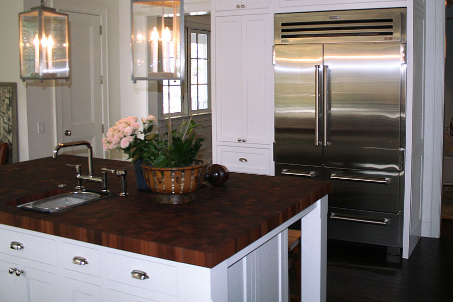 Mahogany Butcher Block Countertop Kitchen Island in Maryland