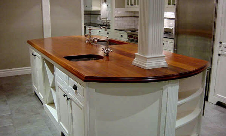 Mahogany Wood Counter in California