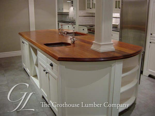 Custom Mahogany Wood Counter in CA