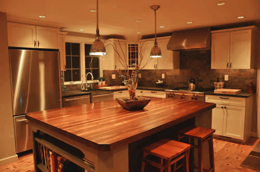 Countertop Kitchen : Sapele Mahogany Wood Countertop for a Kitchen Island in Blue Bell ...