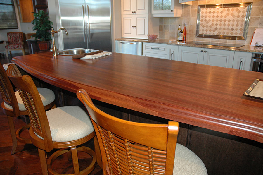 Superbe Mahogany Wood Countertop In Gainesville, Florida