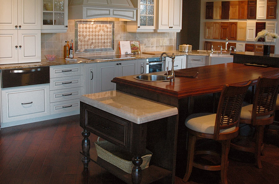 Santos Mahogany Wood Countertop in Alachue, Florida