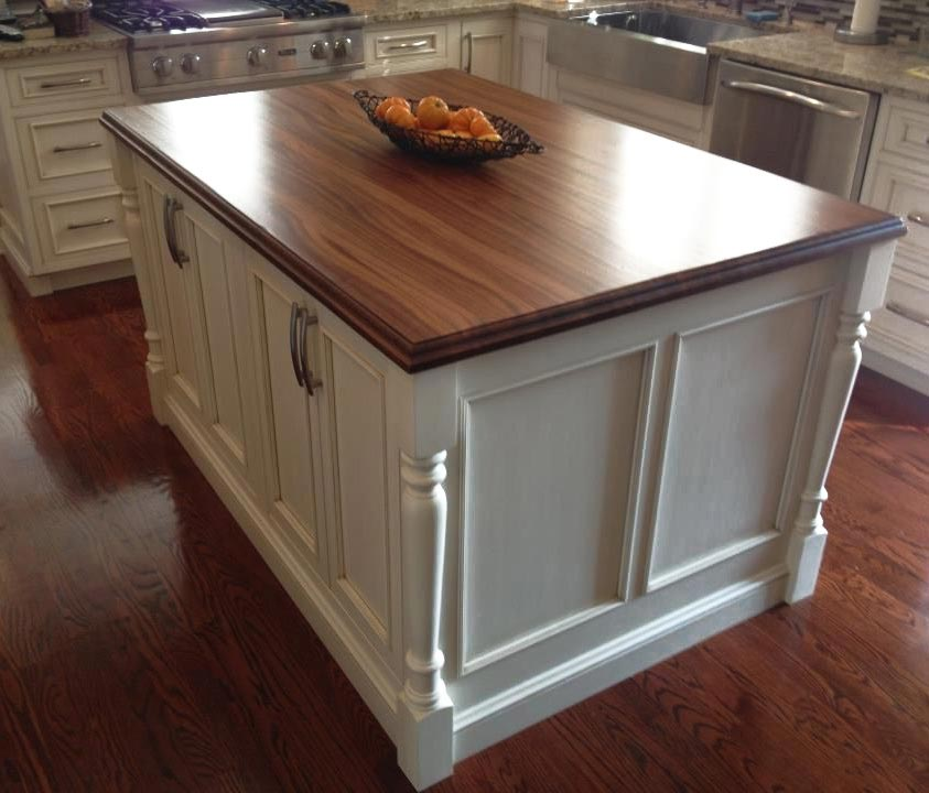 Custom Sapele Mahogany Wood Countertop in Sylvania, Ohio
