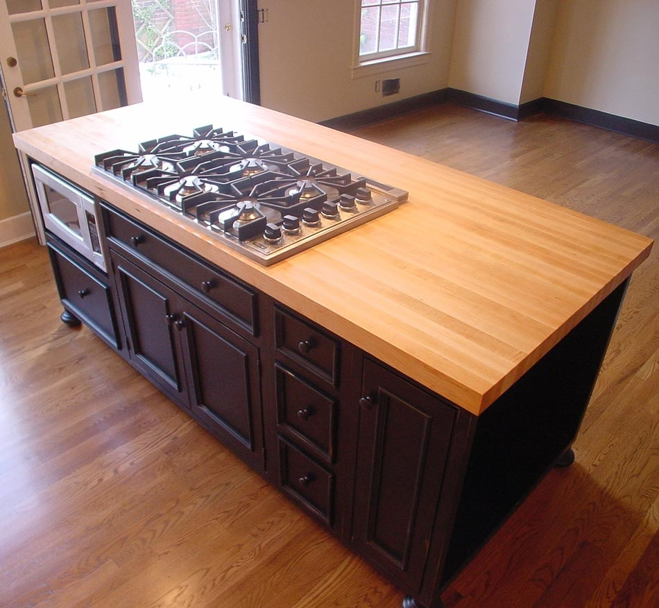 Countertop Butcher Block : Julie F. Maple Wood Countertop Wolfeboro Falls, New Hampshire