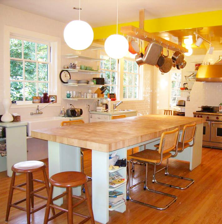Maple Butcher Block Countertop For A Large Kitchen Island In Princeton, New  Jersey