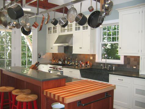Maple, African Mahogany Striped Wood Countertop