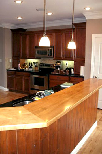 impactful oak kitchen countertops