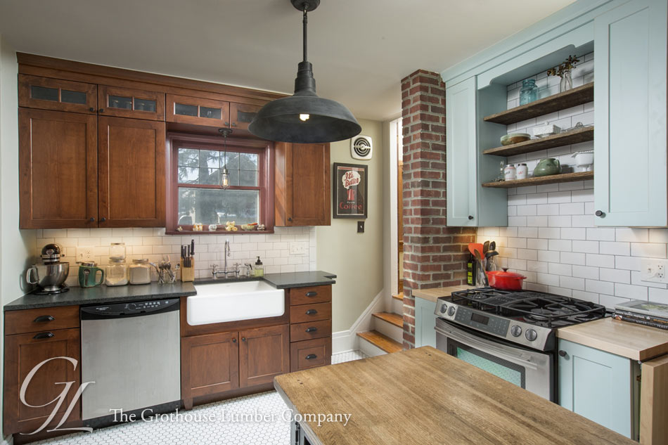 Photos of a Kitchen in Ohio with Maple Wood Countertops