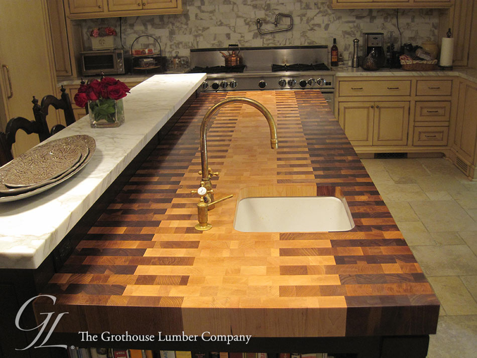 Walnut, Maple, White Oak Butcher Block Countertop