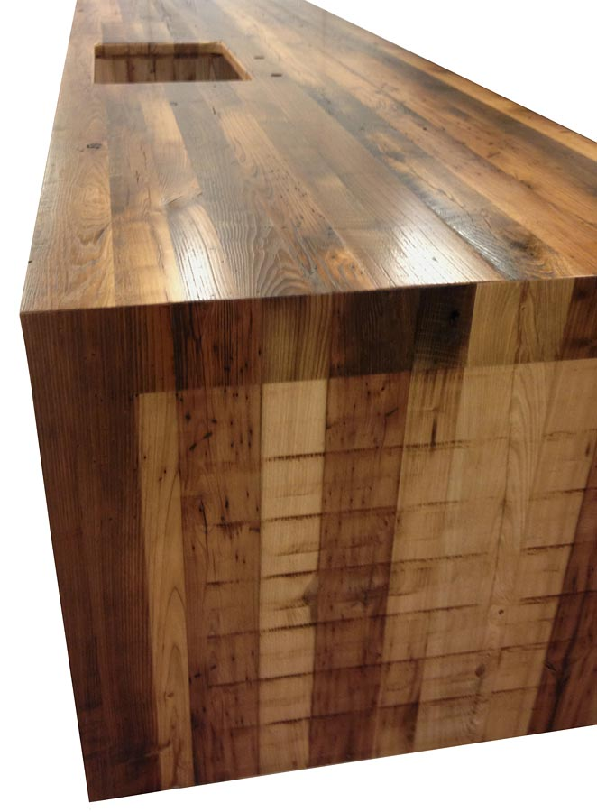 Reclaimed Wood Countertops reclaimed chestnut wood countertops, wood bar tops