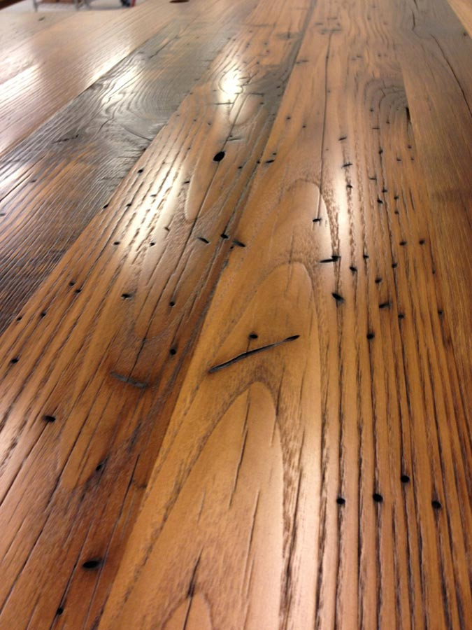 Custom Reclaimed Chestnut Wood Countertop