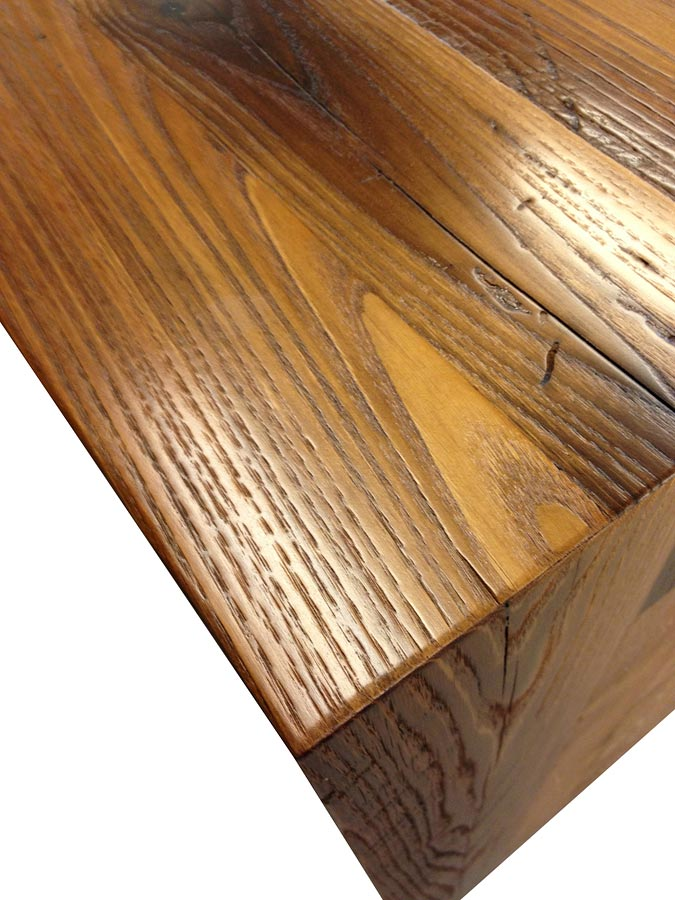 "Reclaimed Chestnut Counter with 1/8"" Roundover edges"