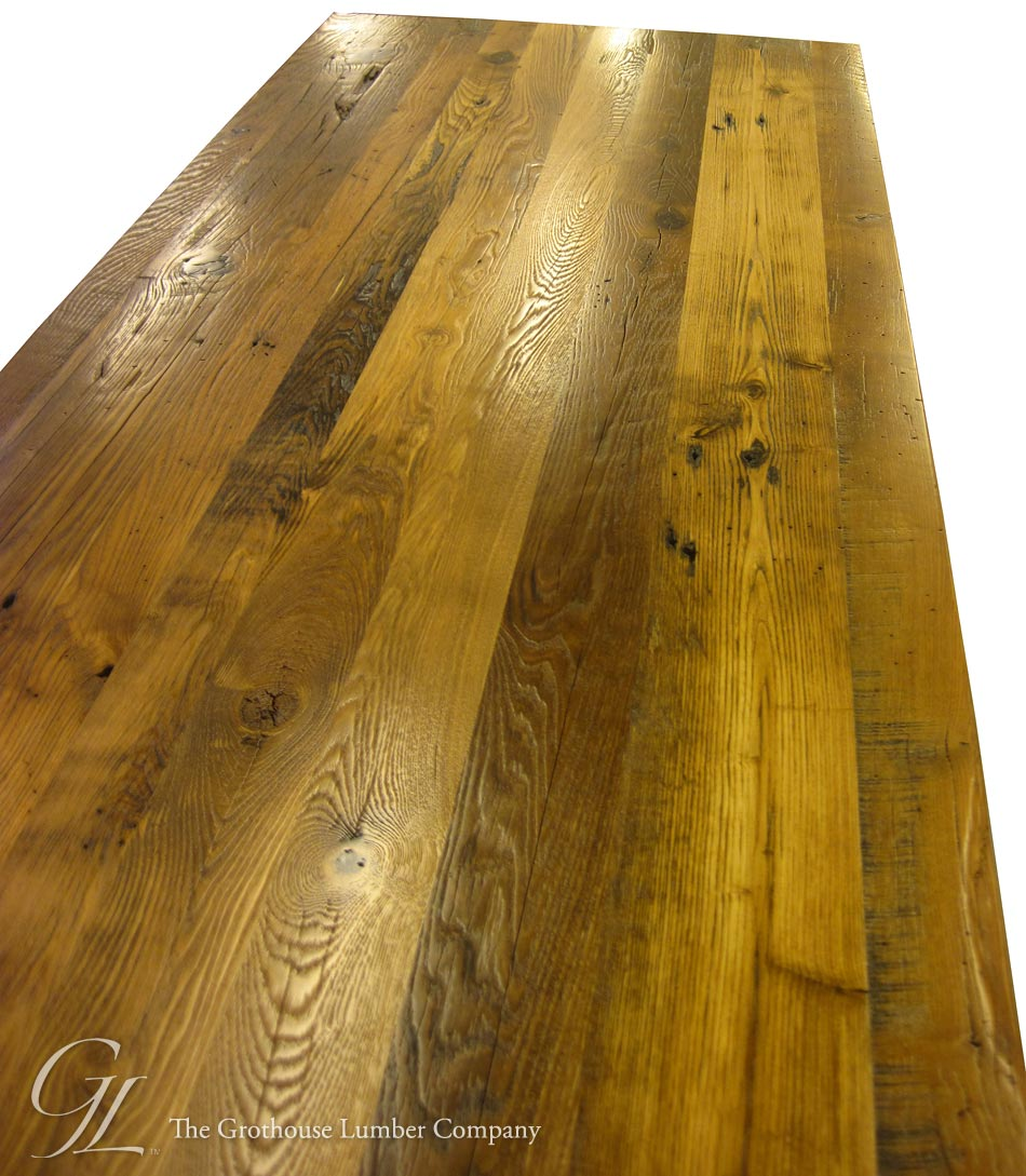 Custom Reclaimed Chestnut Wood Counter in North Carolina