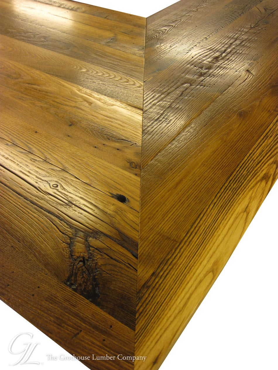Custom Reclaimed Chestnut Wood Countertop in North Carolina