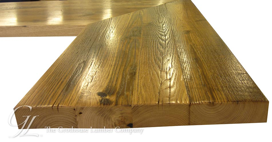 Reclaimed Chestnut Wood Countertop in North Carolina