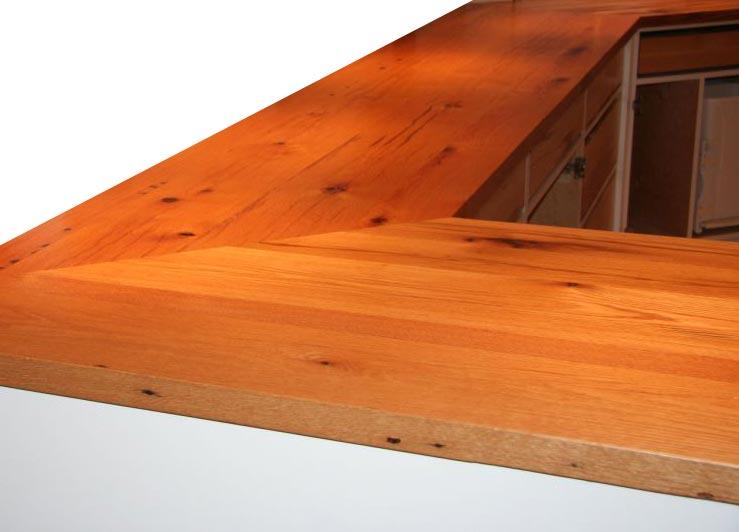 Reclaimed Oak Wood Countertops Bar Tops