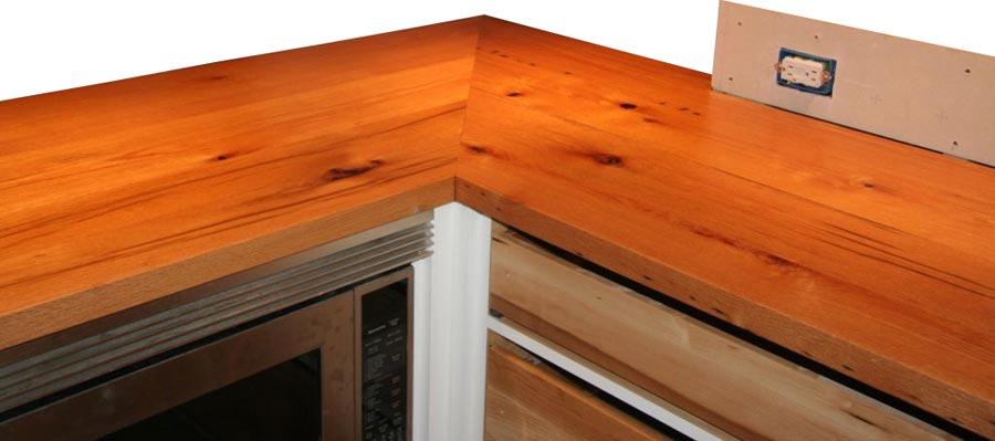 Custom Reclaimed Oak Wood Counters in Stockton NJ - Reclaimed Oak Wood Counters In Stockton, New Jersey