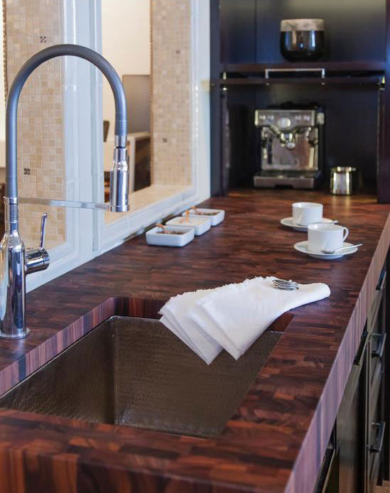 Butcher Block Countertop with sink cut out