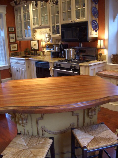 Santos Mahogany Wood Countertop by Grothouse