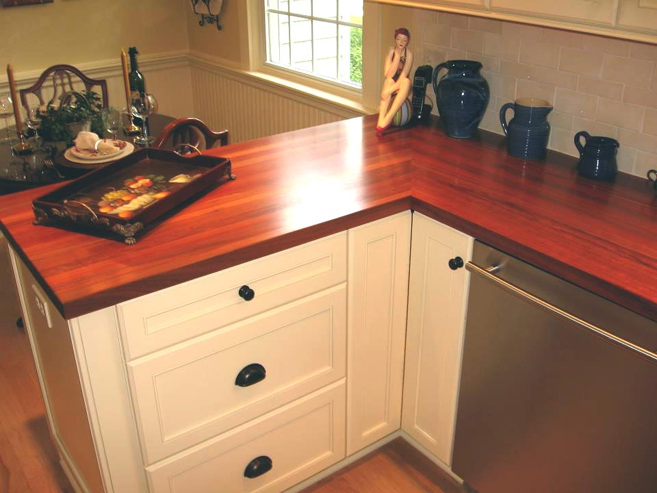Santos Mahogany Wood Countertop In Manasquan New Jersey