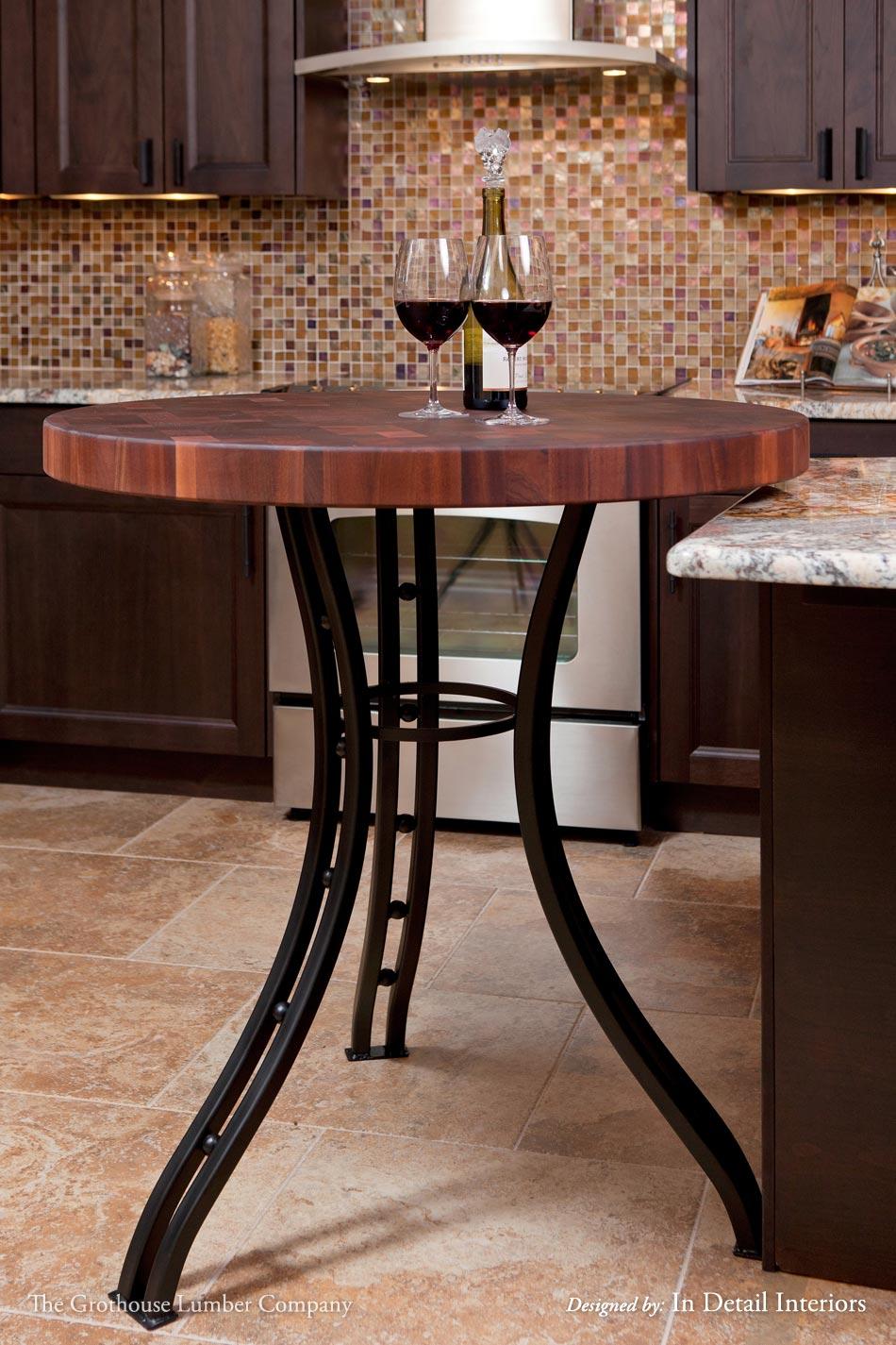 sapele mahogany butcher block table in florida. Black Bedroom Furniture Sets. Home Design Ideas