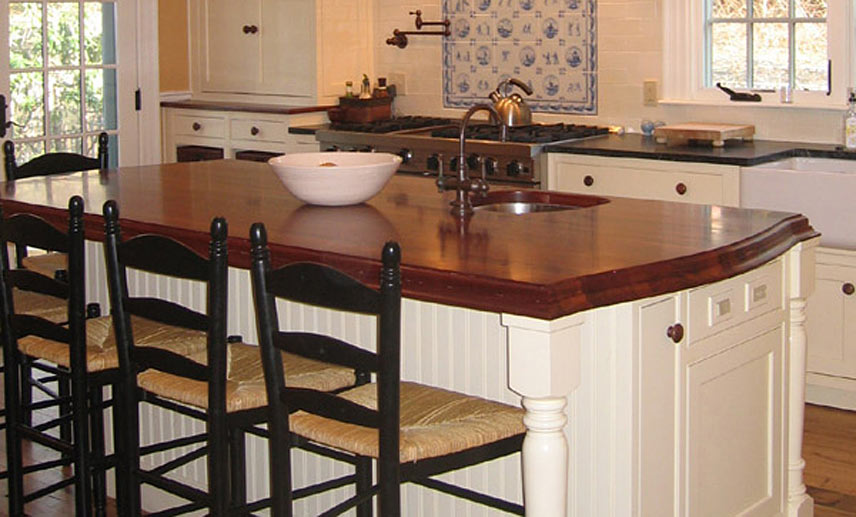 Kitchen Island With Countertop : Sapele Mahogany Wood Kitchen Island in Milton, Massachusetts