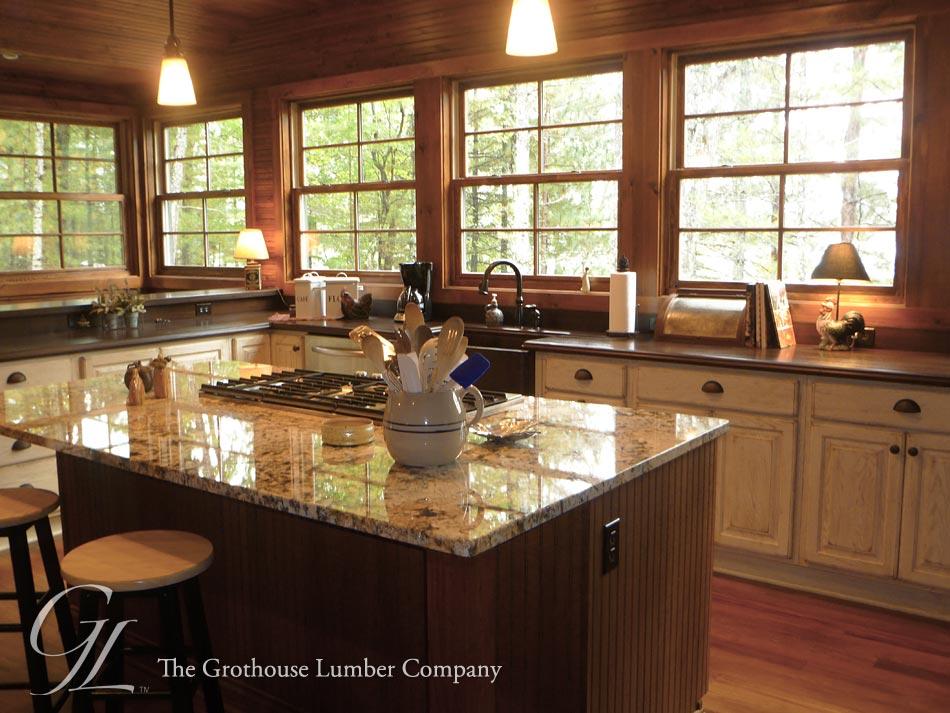 Custom Sapele Mahogany Wood Countertops In Plover Wisconsin