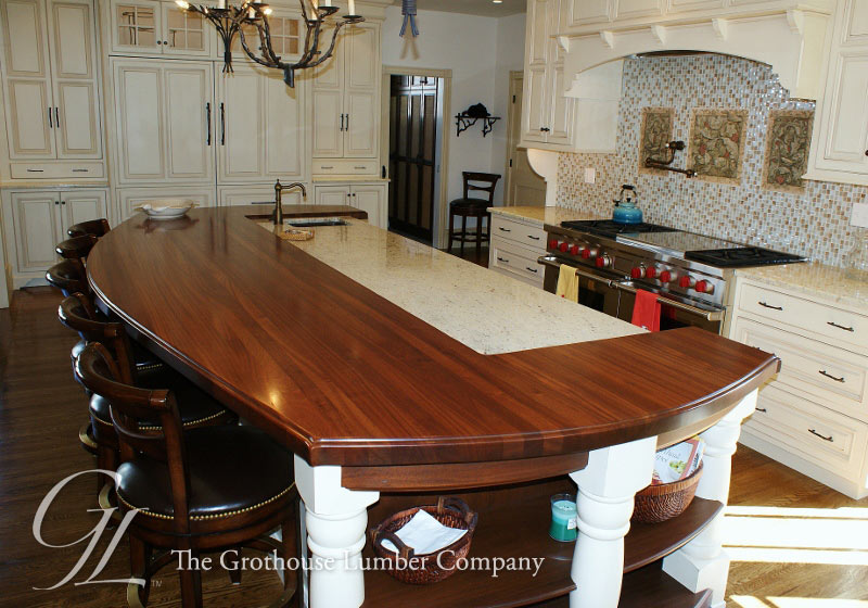 Custom Sapele Mahogany Wood Countertop In Cape May New Jersey