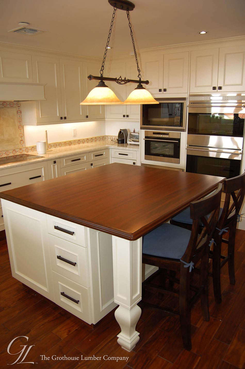 Kitchen Island Countertops : Custom mahogany wood countertop in miami florida