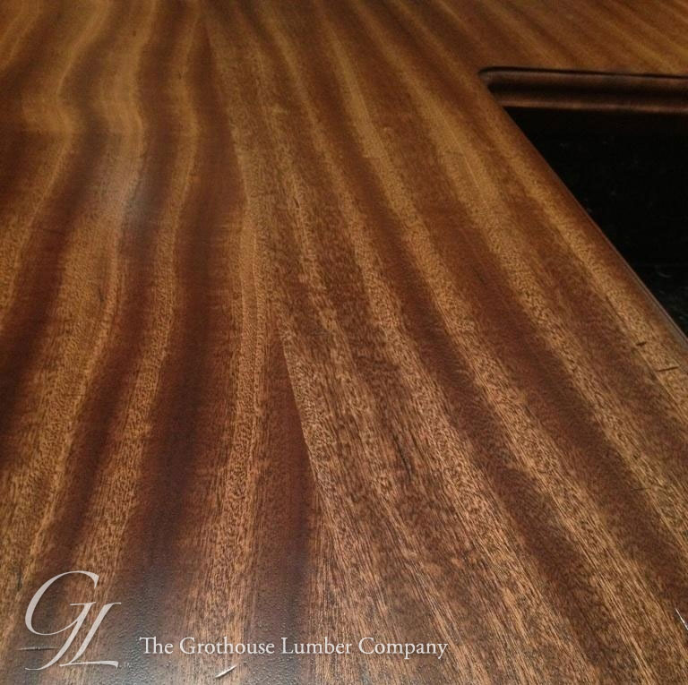 Sapele mahogany wood counter in newtown pennsylvania