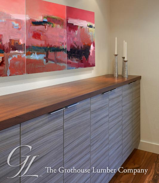 Elegant Sapele Mahogany Wood Counter In Washington