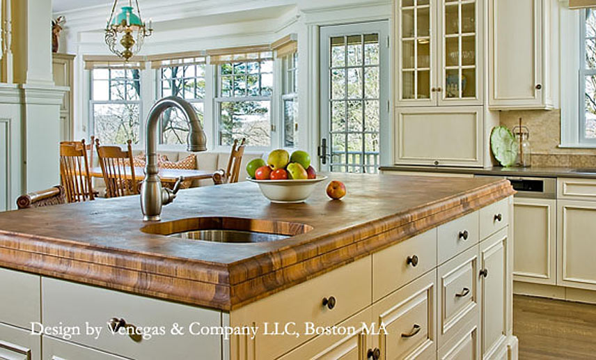 Teak Butcher Block Countertop In MA
