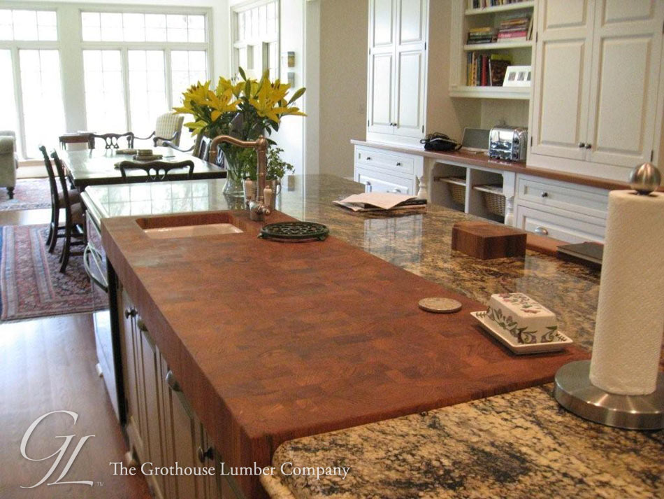 Custom Teak Butcher Block Countertop In Savannah Ga