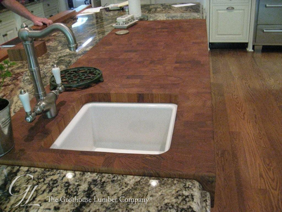 Custom Teak Butcher Block Countertop in Georgia