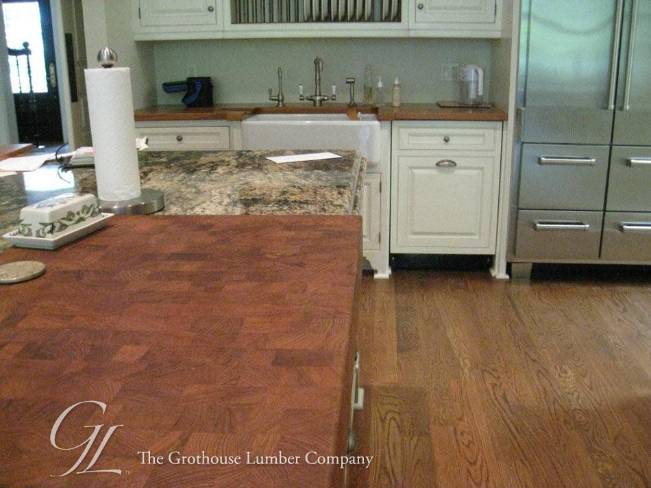 Teak Butcher Block Countertop in GA