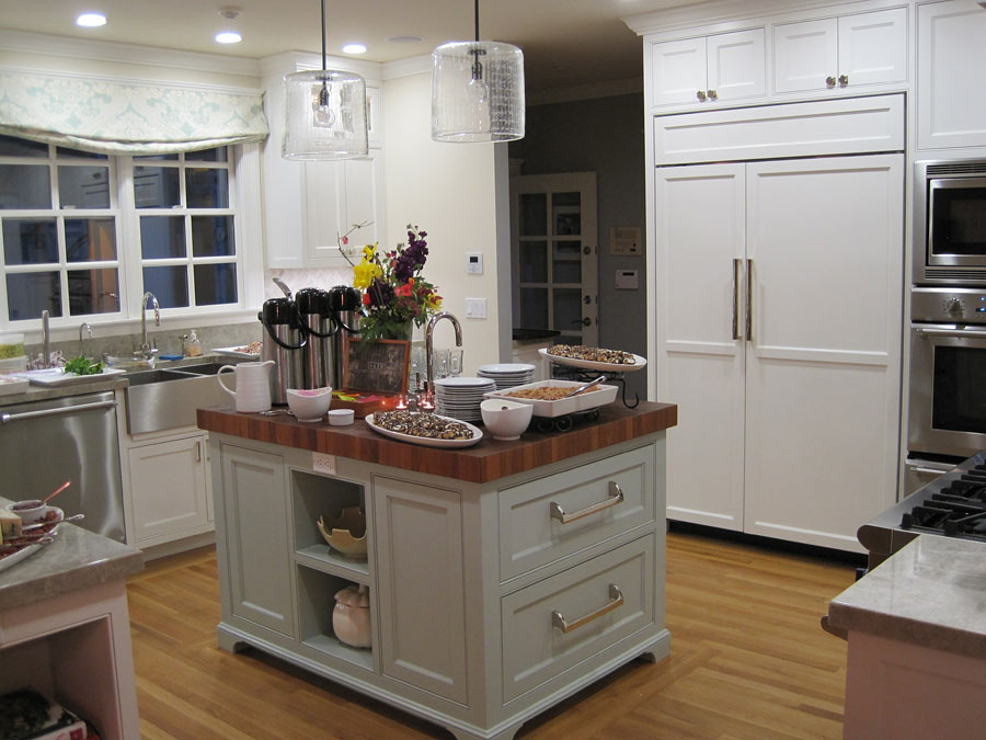 White Kitchen Butcher Block : Custom Burmese Teak Butcher Block Countertop in Palo Alto CA