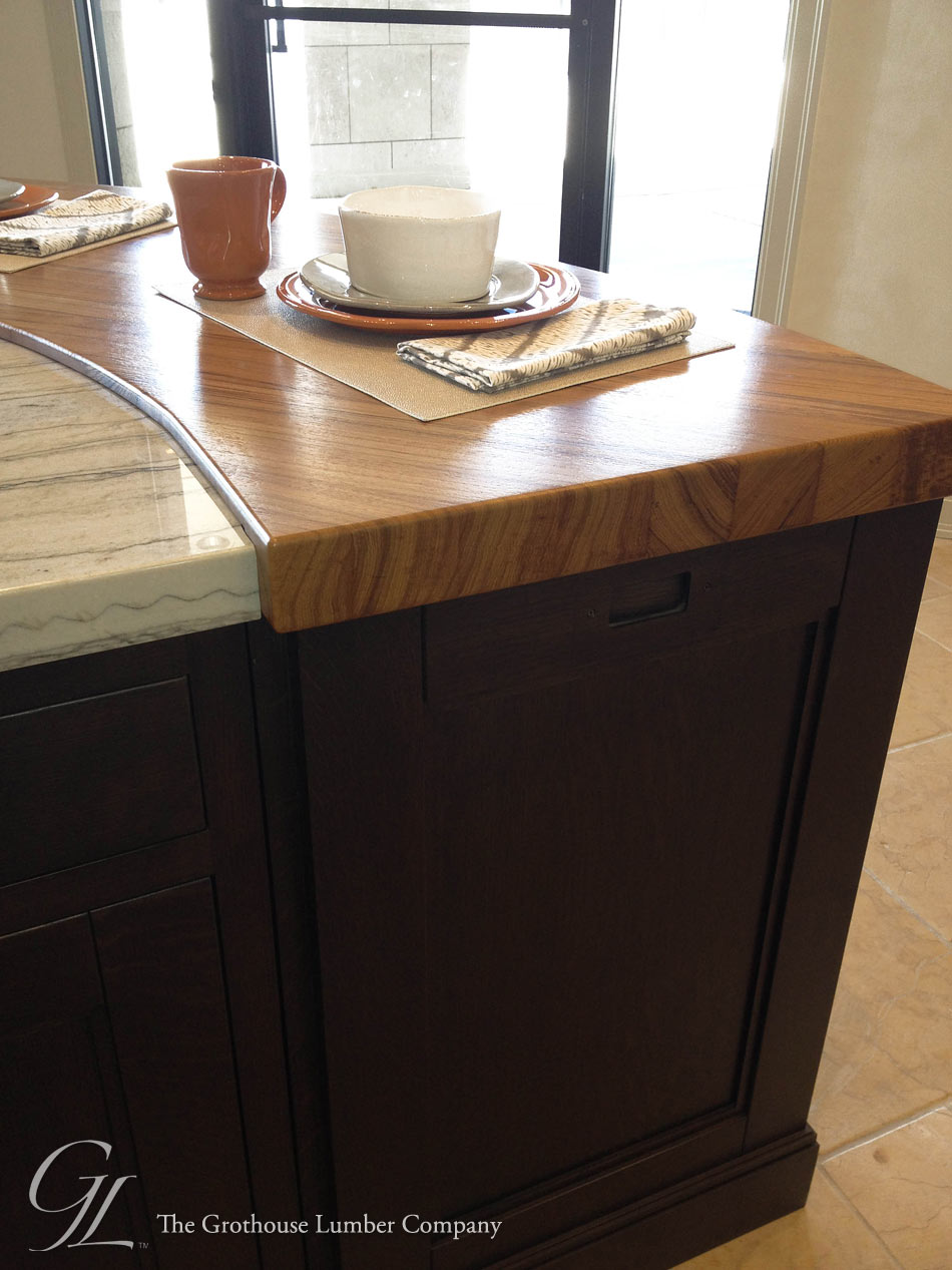 Burmese Teak Wood Countertop In Colorado