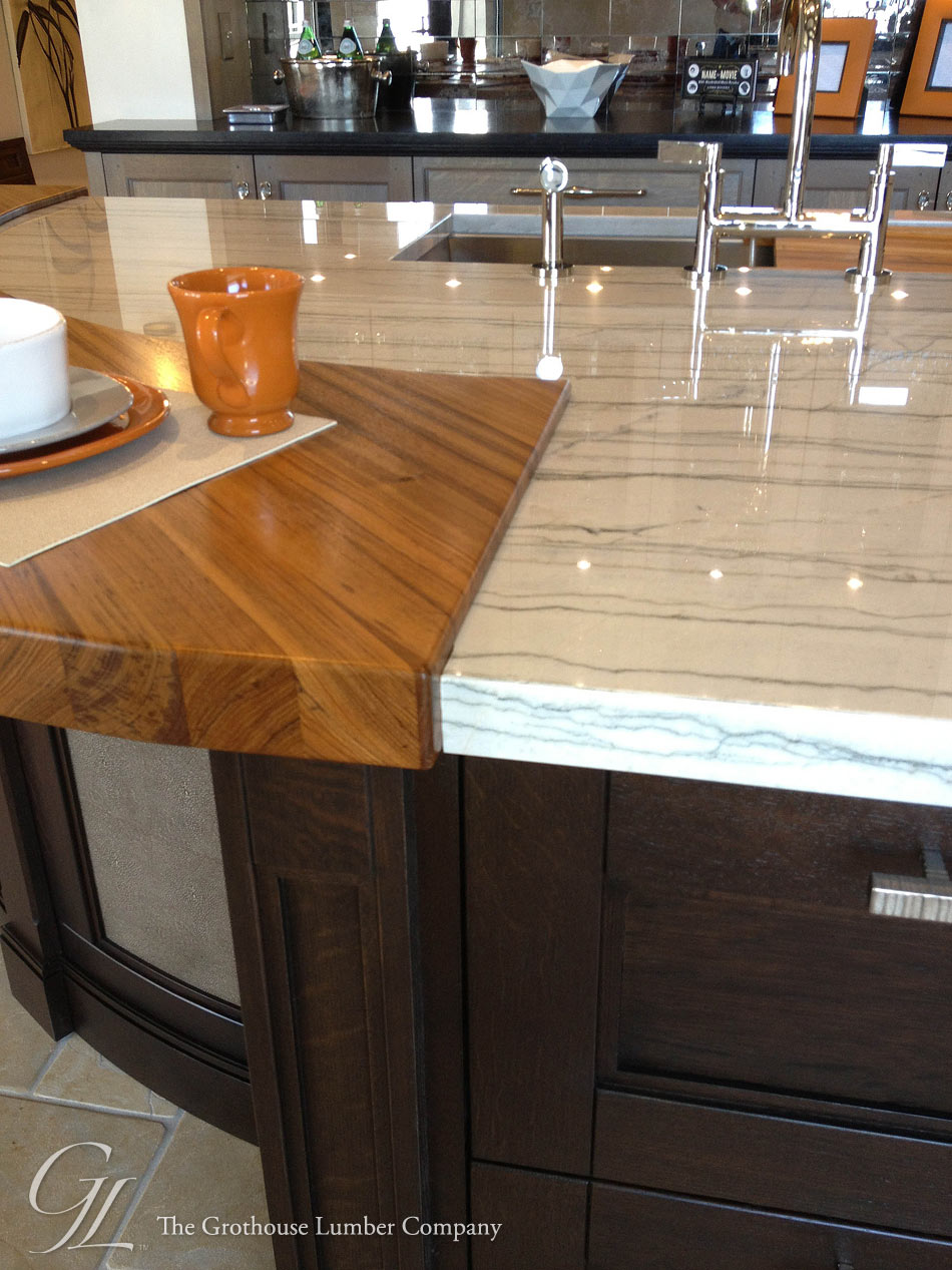 Teak Wood Countertop In Denver, Colorado