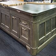 Anvil Exodus Metal Finished Wood Countertop in New York City