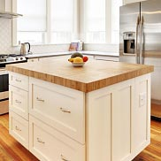 Carbonized Bamboo Wood Kitchen Island