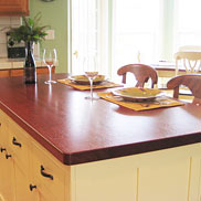 Brazilian Cherry Wood Counter California