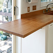Cherry Wood Countertop with Drain Boards
