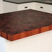 Sapele Mahogany Butcher Block Countertop in Massachusetts